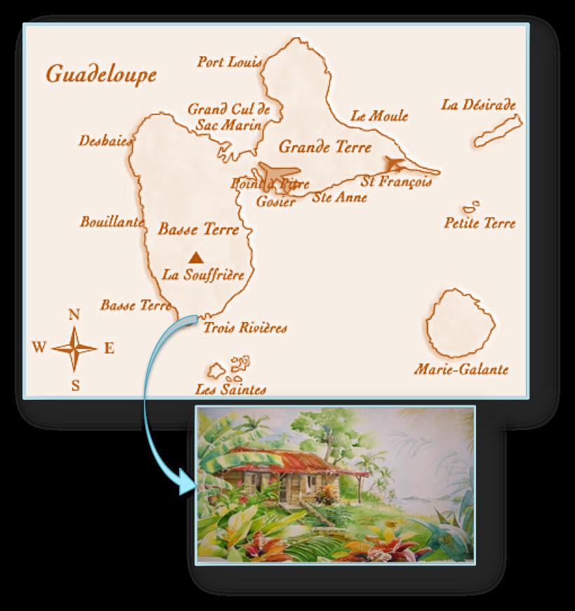 carte guadeloupe trois rivières
