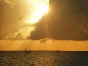 Vieux fort coucher de soleil