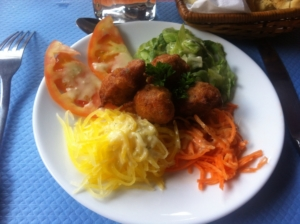 Accras Salade